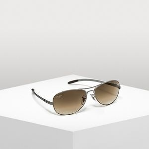 Ray-Ban Carbon Fiber Brown Aviator Sunglasses